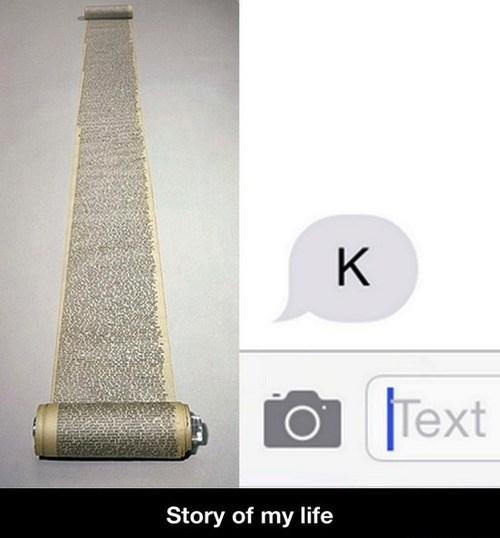 If I See K One More Time in a Text Message, You Are Getting Blocked