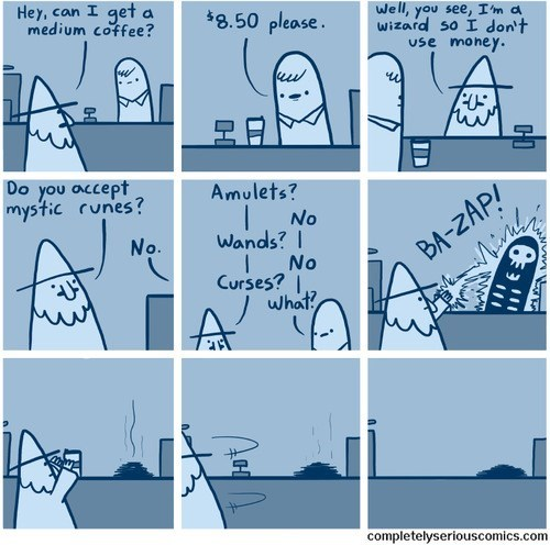 coffee,magic,wizards,web comics