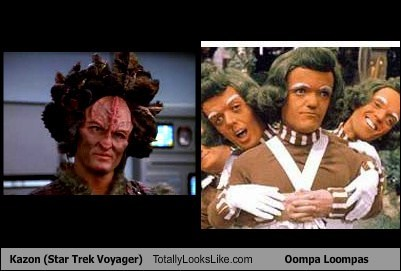 Kazon (Star Trek Voyager) Totally Looks Like Oompa Loompas