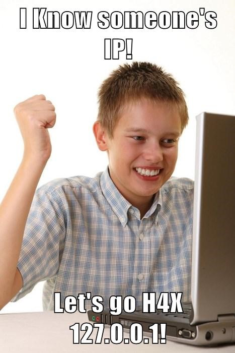 hackers,internet noob kid