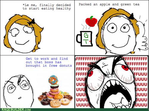 doughnuts,rage,work,food