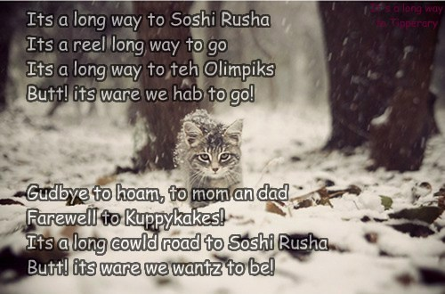 Kuppykakers sing it all teh way to teh Olimpiks!
