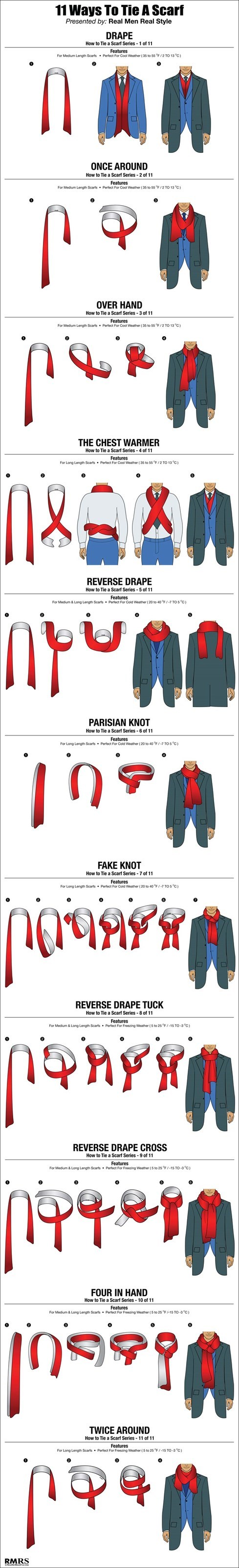 Be Warm and Fashionable with These Scarf Knots