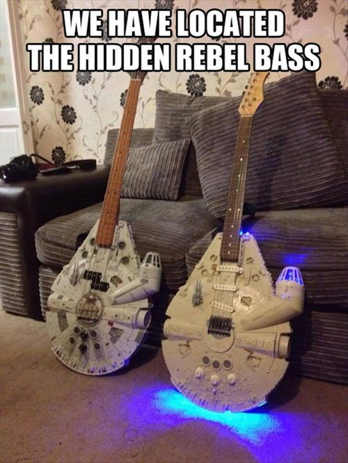 Music,star wars,guitars,millennium falcon