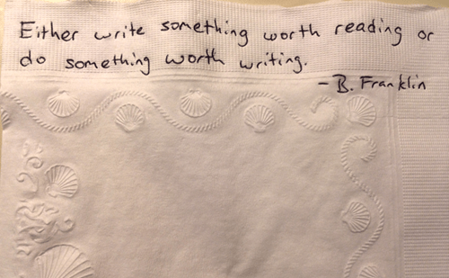 Tearjerker of the Day: Dying Father Writes Over 800 Inspirational Napkin Notes to Make Sure She Never Has to Eat Lunch Without One