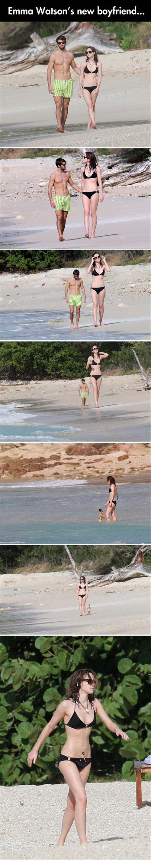 beach,boyfriend,emma watson,photoshop,matthew hanney