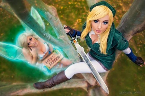 cosplay,link,legend of zelda,jessica nigri,navi