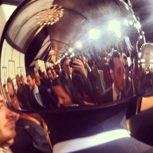 You Haven't Selfie'd Until You've Taken a Picture in the Reflection of a Daft Punk Helmet