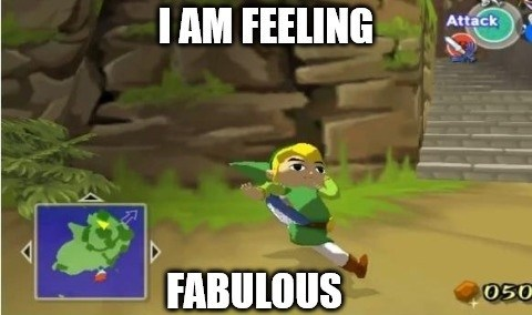 link is feeling fabulous