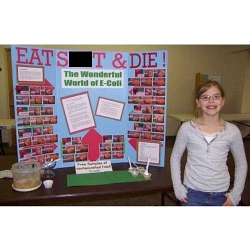 poop,science fair,ecoli,funny