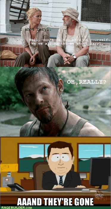 Don't even THINK about shooting Daryl