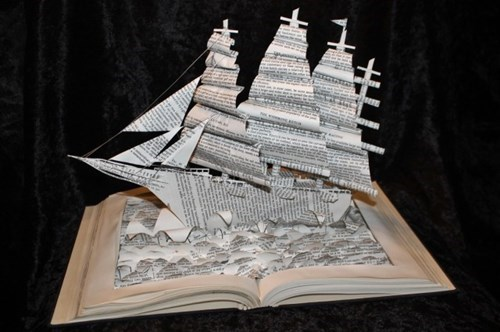papercraft ship book