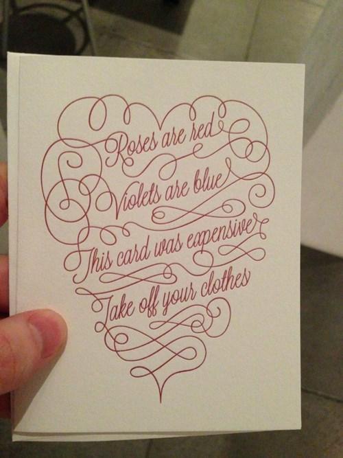 An Honest Valentine's Day Card