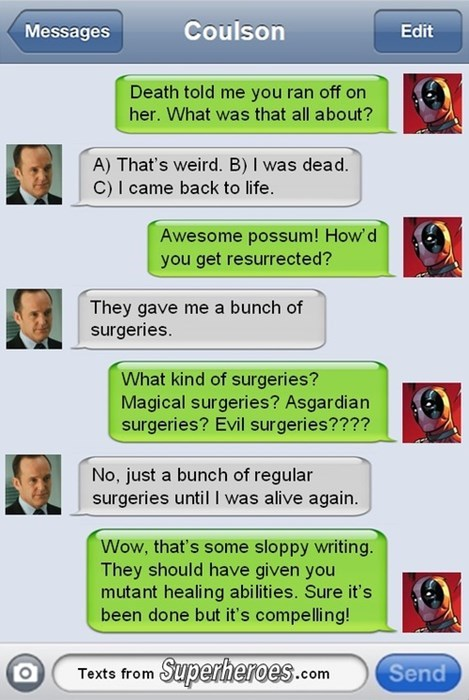 agent coulson,deadpool,agents of shield