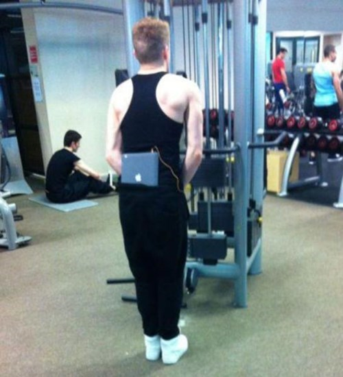 You Expect Him to Work Out Without Music?