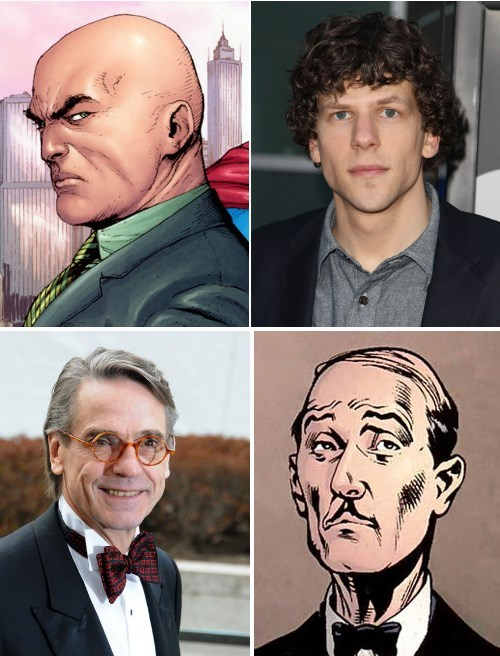 alfred pennyworth,Jeremy Irons,jesse eisenberg,Zack Snyder,lex luthor,batfleck,batman vs superman