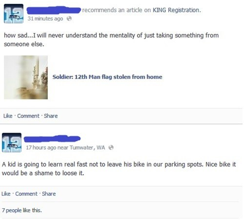 stealing,bike,irony