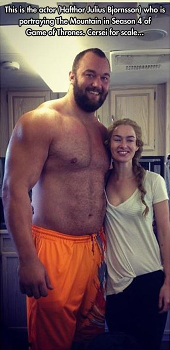 actors,Game of Thrones,funny,The Mountain