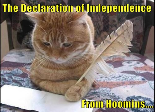 The Declaration of Independence  From Hoomins....