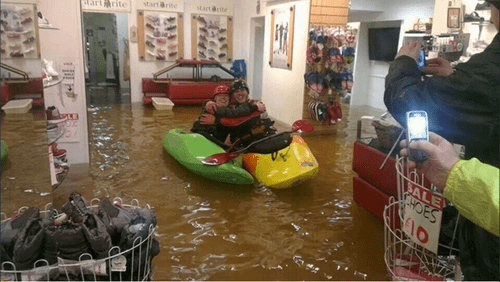 Flood in the Shop? Break Out the Kayaks