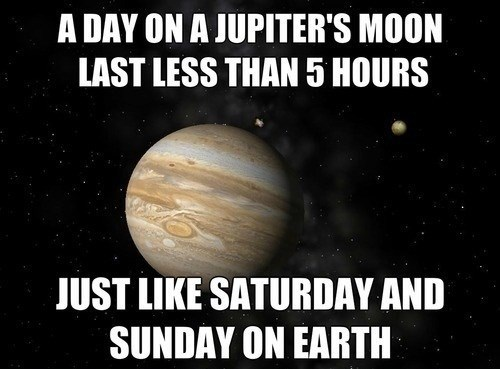 Jupiter Is Full of Weekends