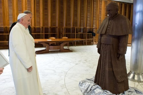 Vanilla Pope Meets Chocolate Pope