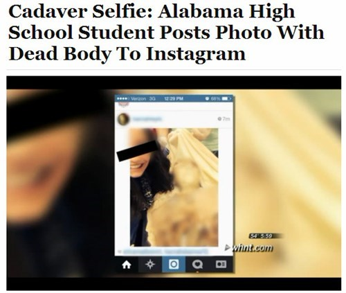 Facepalm of the Day: After This, We Should Take a Good Long Look at Our Selfie Habits