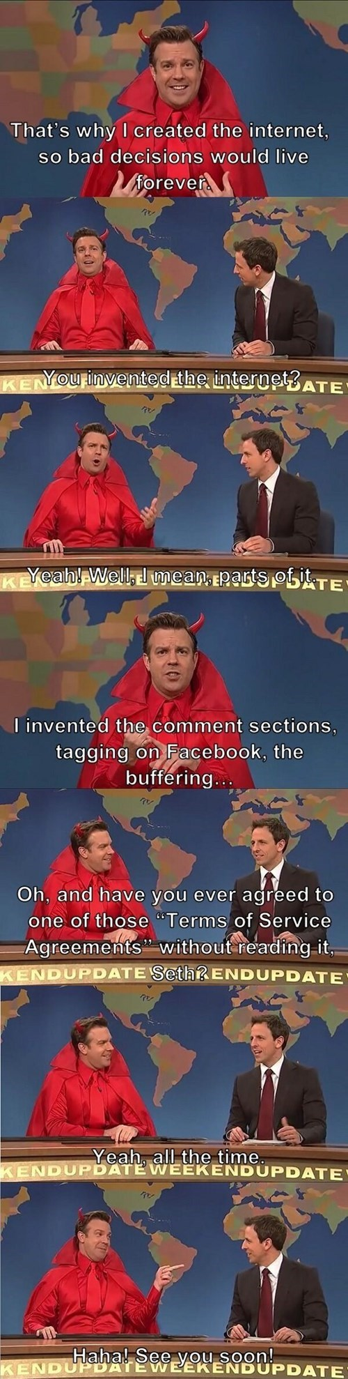 seth meyers,the internets,the devil,SNL