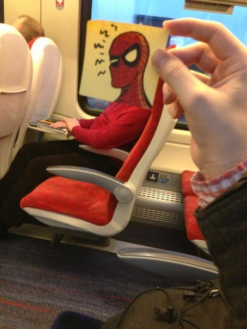 Spiderman post-it head