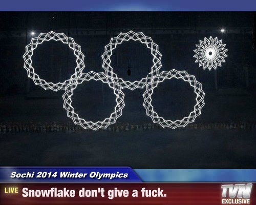 Sochi 2014 Winter Olympics - Snowflake don't give a f*ck.