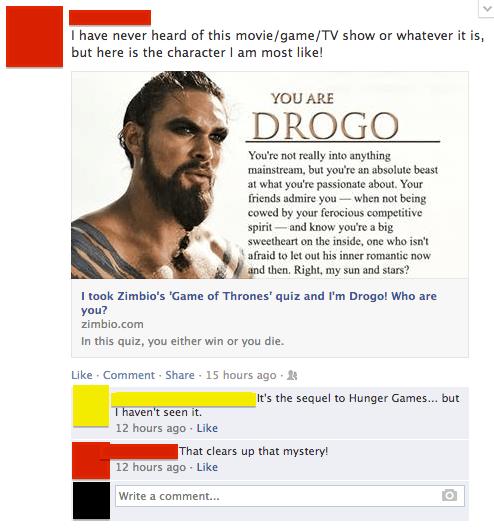 Game of Thrones,facebook quiz,quiz,hunger games,failbook,g rated