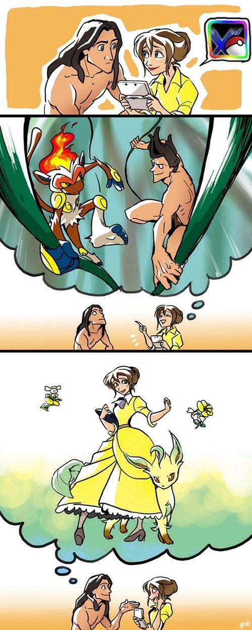 Tarzan With Pokémon