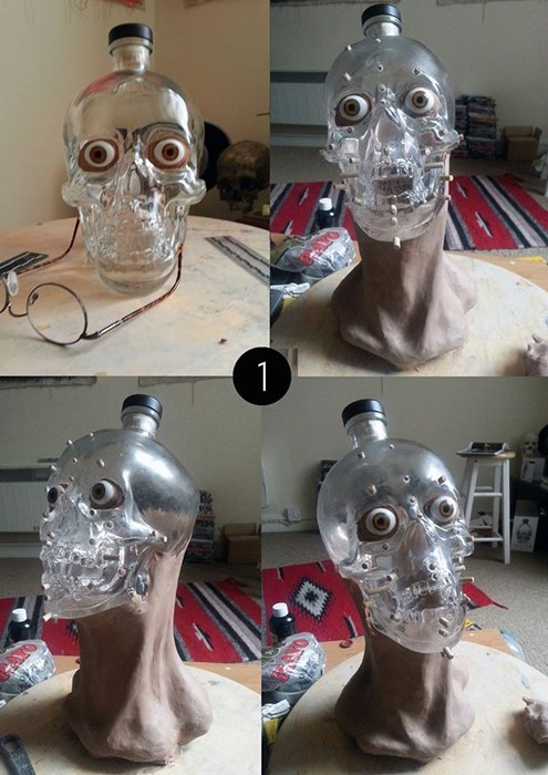 Scientists Create the Face of Crystal Skull Vodka From a Bottle