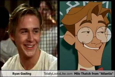 "Ryan Gosling Totally Looks Like Milo Thatch from ""Atlantis"""