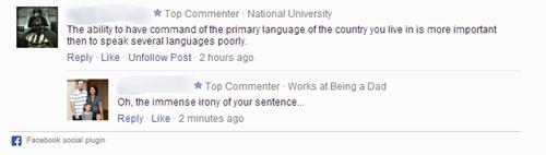 language,irony,spelling