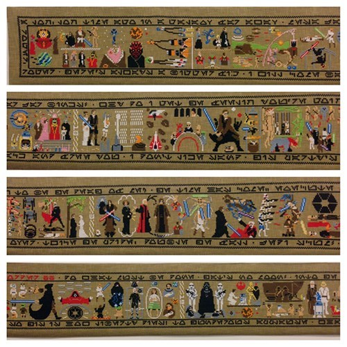 This Hand Made Tapestry Tells The Entire Star Wars Saga