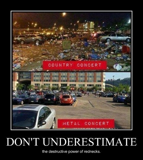 underestimate,metalhead,country music,funny