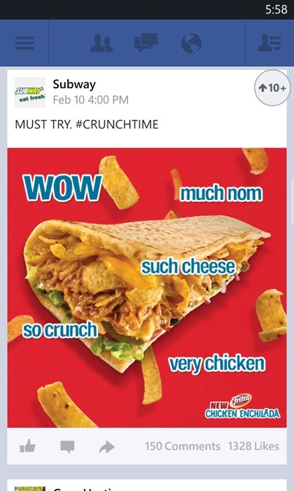 Subway Appropriates Doge, Doge Becomes Even More Lame