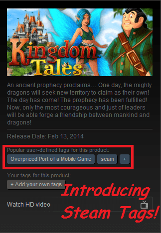 Steam Tags are Just Looking Out for the Consumer
