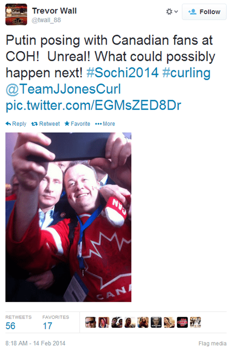 Selfies of the Day: Canadian Olympians Are Taking Casual Selfies With One of the Most Powerful Men in the World. No Big Deal.
