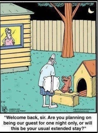 DOG HOUSE AGAIN?