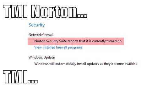 TMI Norton...  TMI...