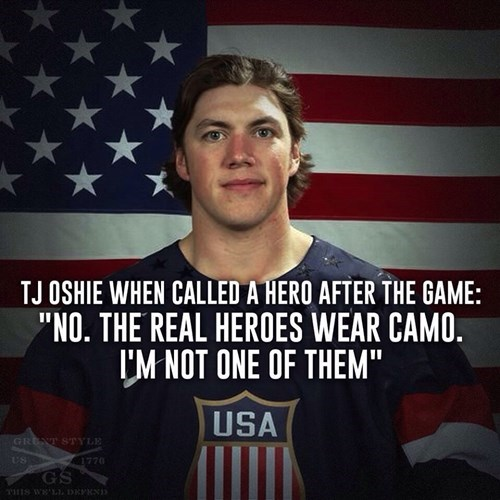 T.J. Oshie After Beating the Russians