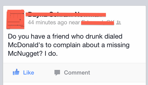 drunk,McDonald's,chicken nuggets