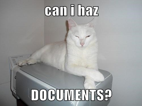 can i haz  DOCUMENTS?