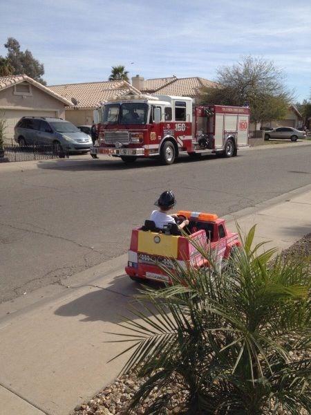 goal,firefighters,kids,parenting,fire truck