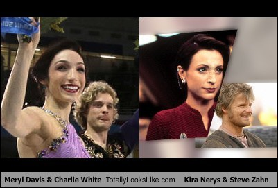 Meryl Davis & Charlie White Totally Looks Like Kira Nerys & Steve Zahn
