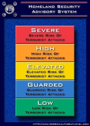 Personal Threat Level Lets You Make Your Own Homeland Security Threat Level Chart