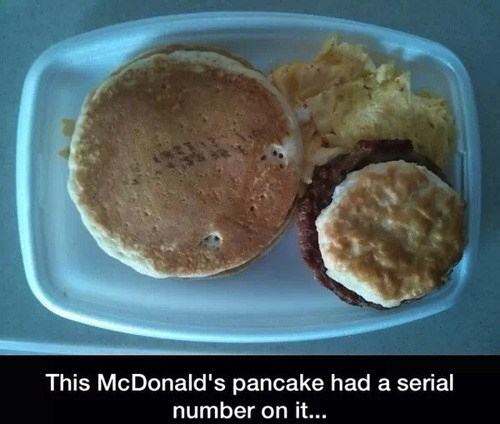 McDonald's: Where Even Your Pancakes Have Serial Numbers
