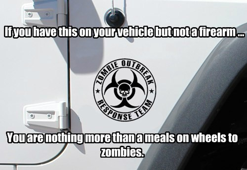 If you have this on your vehicle but not a firearm ...